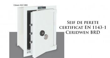 Seif de zidit în perete certificat EN 1143-1