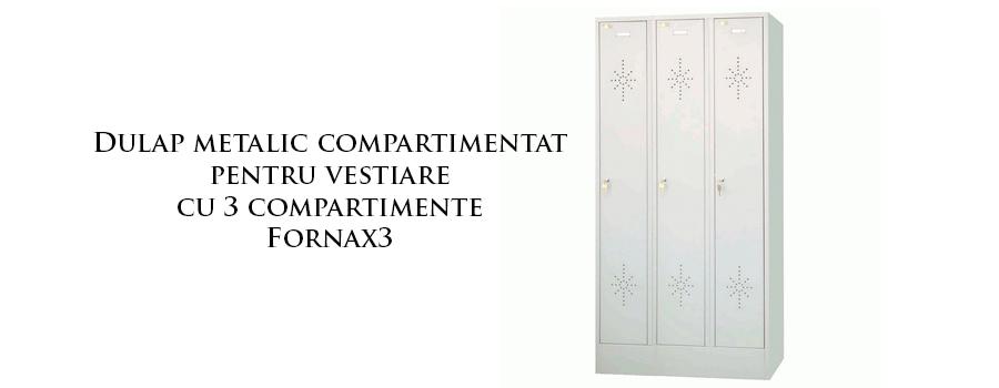 Dulap metalic compartimentat pentru vestiare cu 3 compartimente Fornax3