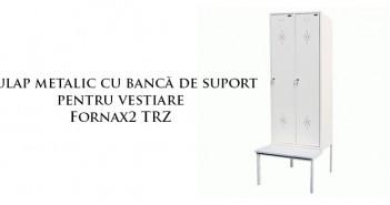 Dulap metalic cu bancă de suport pentru vestiare