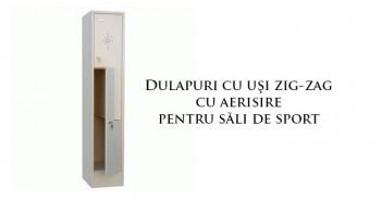 Dulapuri cu uși în zig-zag cu aerisire pentru vestiare