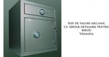 Seif de valori mecanic cu sertar detașabil pentru birou Veniatia
