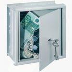 Seif de prins in perete pentru hoteluri, seifuri mecanice cu 2 chei , seifuri sigure pentru pastrat valori