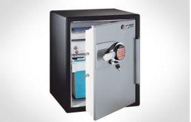 Pret mic seif antifoc pentru documente,seif cu sistem electronic si cheie, seif de securitate antifoc