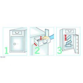 Seif cu fanta si sertar pentru benzinarii, case de pariuri si amanet Depositsafe-B/70 RTR 2