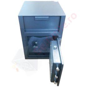 Casa de bani tip seif cu fanta cu cheie sau blocare electronica Omega Deposit CHUBB