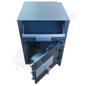 Casa de bani tip seif cu fanta cu cheie sau blocare electronica Omega Deposit CHUBB 3