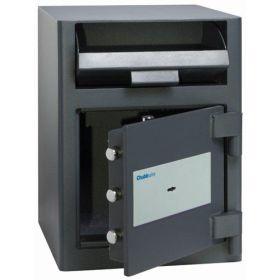 Casa de bani tip seif cu fanta cu cheie sau blocare electronica Omega Deposit CHUBB 9
