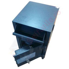 Casa de bani tip seif cu fanta cu cheie sau blocare electronica Omega Deposit CHUBB 4