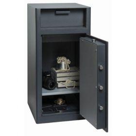 Casa de bani tip seif cu fanta cu cheie sau blocare electronica Omega Deposit CHUBB 10