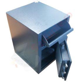 Casa de bani tip seif cu fanta cu cheie sau blocare electronica Omega Deposit CHUBB 5