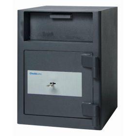 Casa de bani tip seif cu fanta cu cheie sau blocare electronica Omega Deposit CHUBB 11