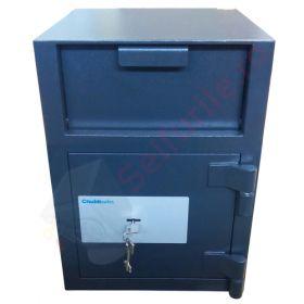 Casa de bani tip seif cu fanta cu cheie sau blocare electronica Omega Deposit CHUBB 6