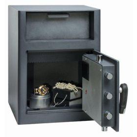 Casa de bani tip seif cu fanta cu cheie sau blocare electronica Omega Deposit CHUBB 14