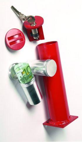 Seif cilindric cu cheie ancorat in podea Petina 2