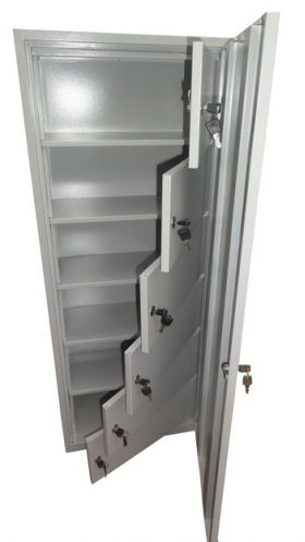 Dulapuri metalice Jupiter cu incuietoare cilindrica si casete pentru echipamente silvice